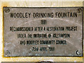 SJ9391 : Woodley Drinking Fountain (detail) by David Dixon