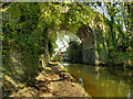 SJ9392 : Peak Forest Canal, Woodley Rail Bridge by David Dixon