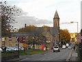SD9905 : Uppermill High Street (A670) by David Dixon