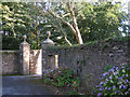 SX8251 : Gate pillars, entrance to Wadstray House  by Robin Stott