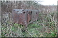 SK2755 : Middleton Top - derelict waggon boiler by Chris Allen
