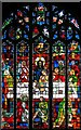 TQ2887 : St Michael, South Grove, Highgate - East stained glass window by John Salmon