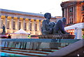 SP0686 : Reclining statue, Victoria Square by Nigel Chadwick