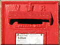 NZ2264 : Victorian postbox, Wellfield Road / Hampstead Road, NE4 - aperture by Mike Quinn