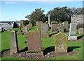 NX0882 : The churchyard, Ballantrae by Humphrey Bolton