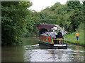 SJ5679 : Narrowboat approaching Preston Brook Tunnel, Cheshire by Roger  Kidd