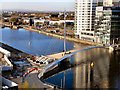 SJ8097 : Manchester Ship Canal; MediaCity Footbridge by David Dixon