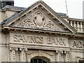 SJ8990 : Savings Bank frieze by Gerald England
