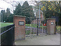 SK6130 : Memorial gates, Keyworth Recreation Ground by Alan Murray-Rust