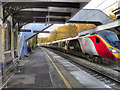 SJ9183 : Pendolino at Poynton (2) by David Dixon