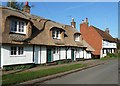 SP9612 : Old cottages - New thatch by Rob Farrow