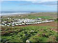 SS4190 : Hillend campsite from the northern end of Rhossili Down by Richard Law