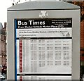 SJ9494 : Bus Times from Hyde Market by Gerald England
