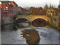 SD7806 : River Irwell, Radcliffe Bridge by David Dixon