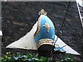 TQ3181 : Bishop's mitre on the wall of Ye Olde Mitre, Ely Court, EC1 by Mike Quinn