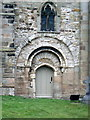 SK6133 : West door, St Mary, Plumtree by Alan Murray-Rust