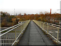 SJ9595 : Footbridge Across the M67 at Hyde by David Dixon