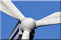 NT4656 : A turbine detail at Dun Law Wind Farm by Walter Baxter