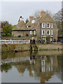 TL4457 : The River Cam and The Malting House in Cambridge by Roger  Kidd