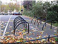 TQ3877 : Cycle racks, Eastney Street, Greenwich by Stephen Craven