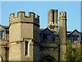 TL4457 : Gisborne Court (detail) at Peterhouse, Cambridge by Roger  Kidd