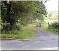 SN8414 : Access lane to Ty Coch Farm north of Penycae by John Grayson