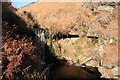 SE0800 : Upper waterfall in Hey Clough by Dave Dunford