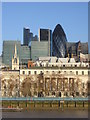 TQ3380 : Looking across the Thames to the City, from Hay's Galleria by Christopher Hilton