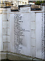 TL1829 : Hitchin War Memorial - Great War Panel - P to S by John Lucas