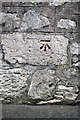 SY6874 : Benchmark on Castle Road wall by Roger Templeman