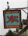 SP4510 : Red Lion (2) - sign, The Green, Cassington by P L Chadwick