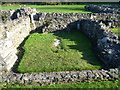 TQ4778 : Burial place of the heart of Roesia of Dover, Lesnes Abbey by Ian Yarham