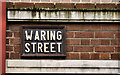 J3474 : Waring Street sign, Belfast by Albert Bridge