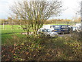 SP9942 : Car park and playing field at Marston Moretaine by M J Richardson