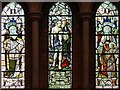TQ4671 : St John the Evangelist, Church Road, Sidcup - Stained glass windows by John Salmon