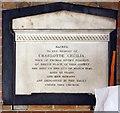 TQ4671 : St John the Evangelist, Church Road, Sidcup - Wall monument by John Salmon