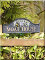 TM2973 : Moat House sign by Adrian Cable