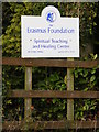 TM2973 : Erasmus Foundation sign at Moat House by Adrian Cable