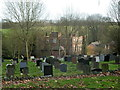 SK4960 : Churchyard and view to Skegby Hall in the trees by Andrew Hill