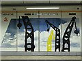TQ3579 : Mural on Rotherhithe Overground Station, Brunel Road, SE16 by Mike Quinn