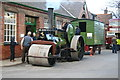 SK5806 : Abbey Pumping Station - roller and living van. by Chris Allen