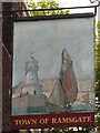 TQ3480 : Sign for The Town of Ramsgate, Wapping High Street, E1 by Mike Quinn