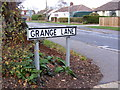 TM2345 : Grange Lane sign by Adrian Cable