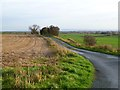NZ1901 : Farmland and road, Easby by Andrew Smith