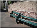 SX9372 : Two seats by a wall, east end of Riverside by Robin Stott