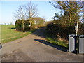 TM3076 : Footpath to St.Peter's Church & Church Farm & entrance to Town Farm by Adrian Cable