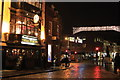 SU9949 : Christmas lights in High Street, Guildford by Roger Davies