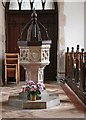 TM0467 : St George, Wyverstone - Font by John Salmon