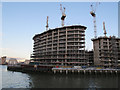 TQ3777 : Greenwich Reach East - well under way (1) by Stephen Craven