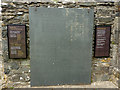 SN7465 : Memorial to Dafydd ap Gwilym at Strata Florida abbey church by Phil Champion